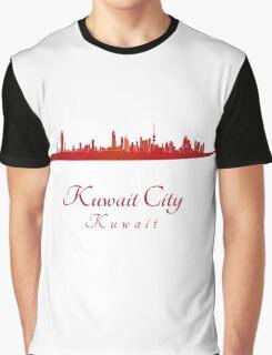 Kuwait City skyline in red Graphic T-Shirt