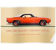 1969 Chevrolet Camaro COPO w/ID Poster