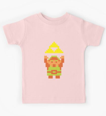 Pixel Link With A Triforce Kids Tee
