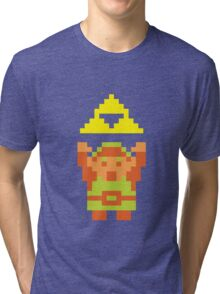 Pixel Link With A Triforce Tri-blend T-Shirt