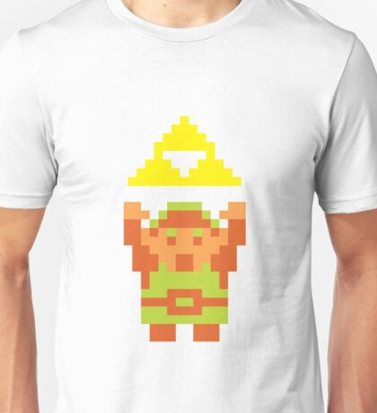 Pixel Link With A Triforce Unisex T-Shirt
