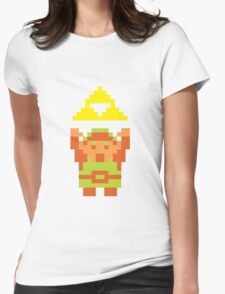 Pixel Link With A Triforce Womens Fitted T-Shirt
