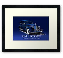 1937 Packard Formal Sedan w/ID Framed Print
