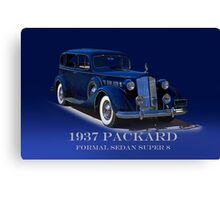 1937 Packard Formal Sedan w/ID Canvas Print