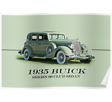 1935 Buick Series 60 Club Sedan w/ID Poster