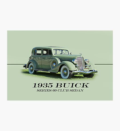 1935 Buick Series 60 Club Sedan w/ID Photographic Print