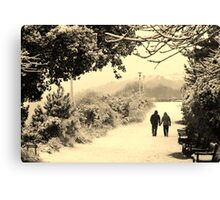 Holding hands... (Eastbourne, 2013) Canvas Print