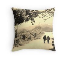 Holding hands... (Eastbourne, 2013) Throw Pillow