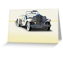 1934 Duesenberg J w/o ID Greeting Card