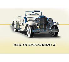 1934 Duesenberg J w/ID Photographic Print