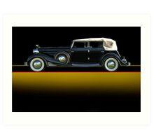 1933 Cadillac V16 Convertible Sedan w/o ID Art Print