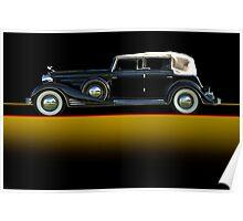 1933 Cadillac V16 Convertible Sedan w/o ID Poster