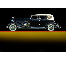 1933 Cadillac V16 Convertible Sedan w/o ID Photographic Print