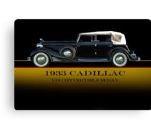 1933 Cadillac V16 Convertible Sedan w/ID Canvas Print