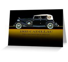 1933 Cadillac V16 Convertible Sedan w/ID Greeting Card