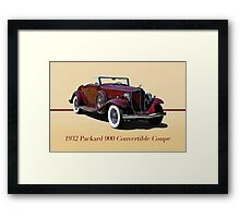 1932 Packard 900 Convertible Coupe w/ID Framed Print