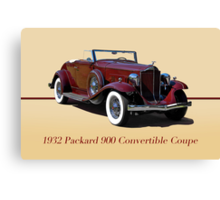 1932 Packard 900 Convertible Coupe w/ID Canvas Print