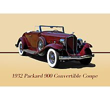 1932 Packard 900 Convertible Coupe w/ID Photographic Print