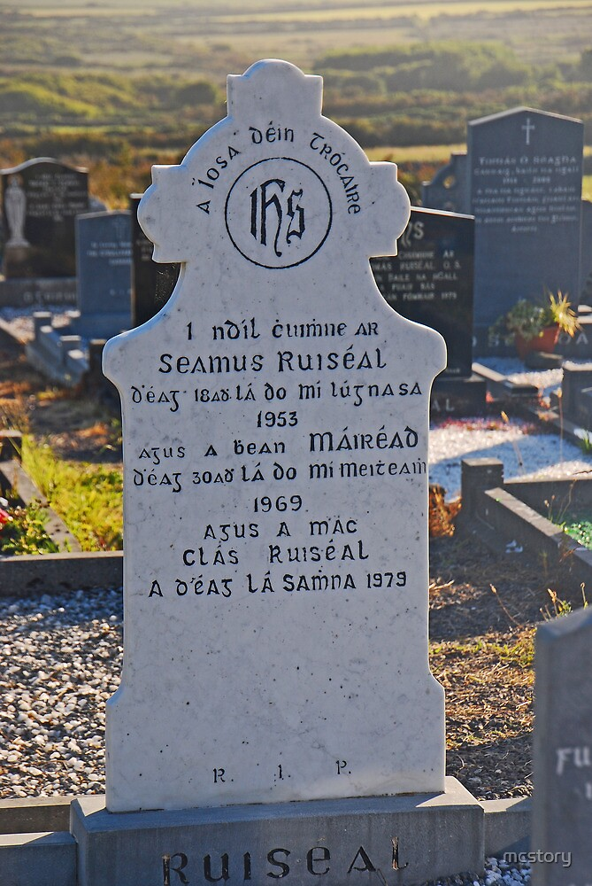 Tombstone In Irish by Mary Carol Story