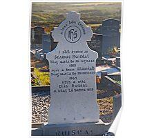 Tombstone In Irish Poster