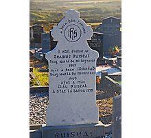 Tombstone In Irish Photographic Print