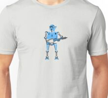 Android with Laser Gun VRS2 Unisex T-Shirt