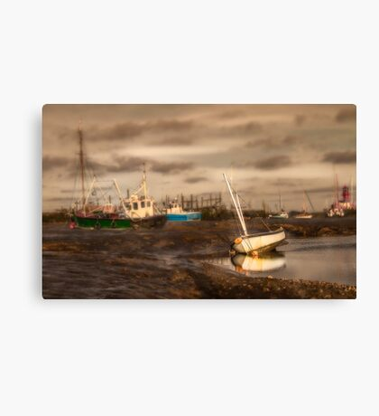 Boats waiting for the tide Canvas Print