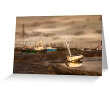 Boats waiting for the tide Greeting Card