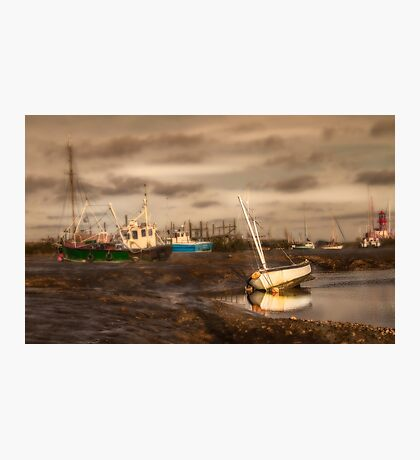 Boats waiting for the tide Photographic Print