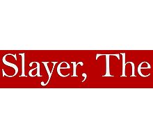 Slayer, The (white) Photographic Print