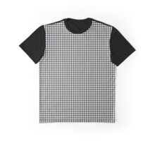 Black On White Grid Graphic T-Shirt