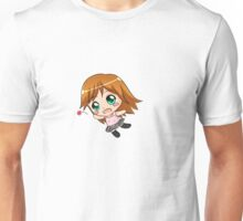 chibi girl + flower Unisex T-Shirt