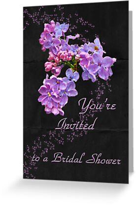 Bridal Shower Invitation - Floral Lilacs by MotherNature