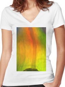 pepper flame Women's Fitted V-Neck T-Shirt