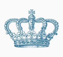 Aqua Vintage Crown One Piece - Short Sleeve