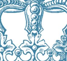 Aqua Vintage Crown Sticker