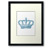 Aqua Vintage Crown Framed Print
