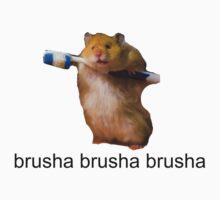 cute baby hamster brush your teeth - brusha brusha  Kids Clothes