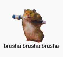 cute baby hamster brush your teeth - brusha brusha  Kids Clothes