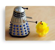 Chick and Dalek Canvas Print