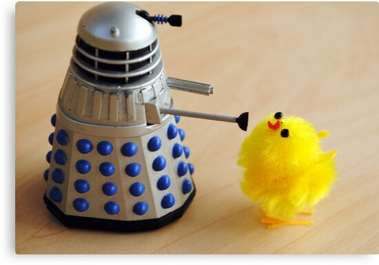 Chick and Dalek by Humperdink