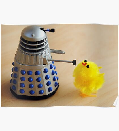 Chick and Dalek Poster