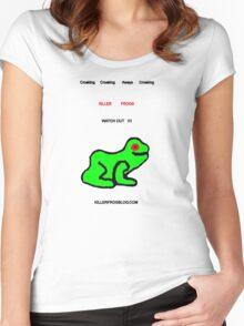 Killer Frog Blog Tee 1 Women's Fitted Scoop T-Shirt