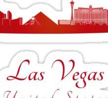 Las Vegas skyline in red Sticker
