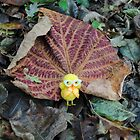 Chick with Leaf by Humperdink