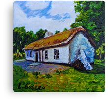 The Weaver's Cottage, Cultra, County Down.  Canvas Print