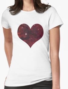 space heart Womens Fitted T-Shirt