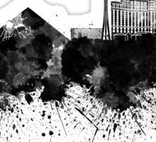 Las Vegas skyline in black watercolor Sticker