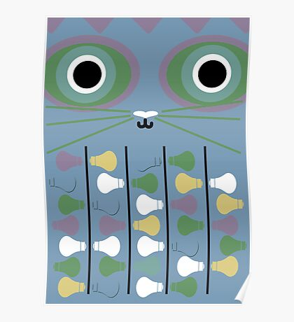 Cat Poster - Blue Poster