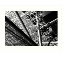 Under the stands, Olympic Riverbank Arena Art Print